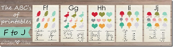 The ABC's of Printables: letters F-J {mama♥miss} ©2013