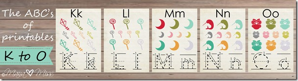 The ABC's of Printables: letters K-O {mama♥miss} ©2013