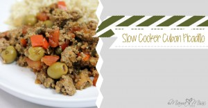 Slow Cooker Cuban Picadillo https://www.mamamiss.com ©2013