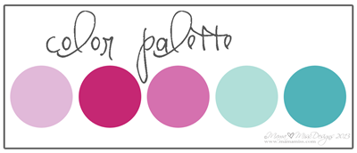 Color Palette Valentine's Day Art - https://www.mamamiss.com ©2013