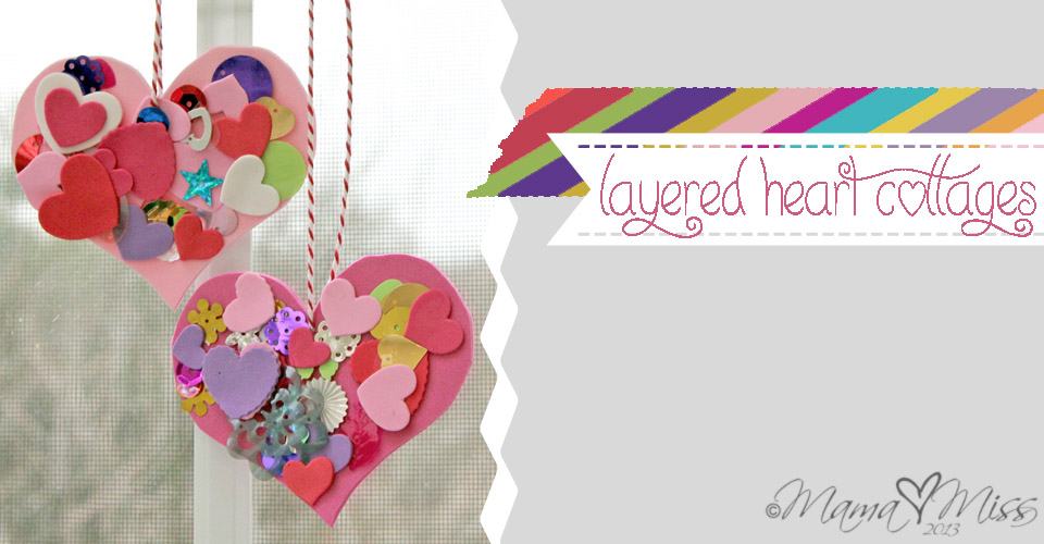 Layered Heart Collage {the studio} https://www.mamamiss.com ©2013