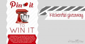 giveaway: KitchenAid Mixer {woot-woot free loot}