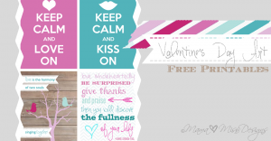 holiday: Valentine's Day Art {free printables}