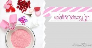 sensory: Valentine Rice Bin
