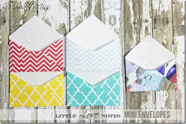 Mini Envelopes - Custom Designed Free Printables https://www.mamamiss.com ©2013