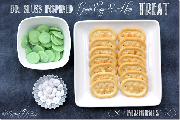 {Dr. Seuss Inspired} Green Eggs & Ham Treat https://www.mamamiss.com ©2013