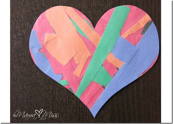 Torn Paper Hearts {the studio} http://www.mamamiss.com ©2013