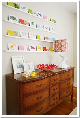 postcard shelf | living-on-the-ledge | http://www.younghouselove.com