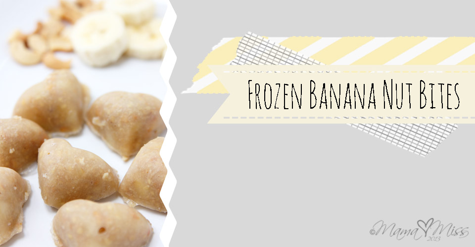 Frozen Banana Nut Bites https://www.mamamiss.com ©2013