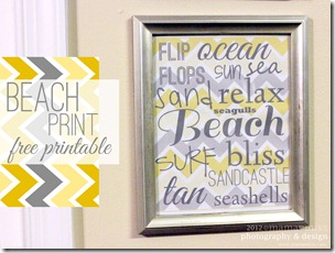 Beach Print https://www.mamamiss.com ©2013