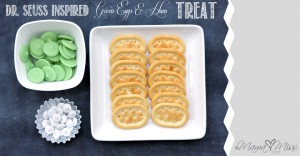 fun eats: {Dr. Seuss Inspired} Green Eggs & Ham Treat