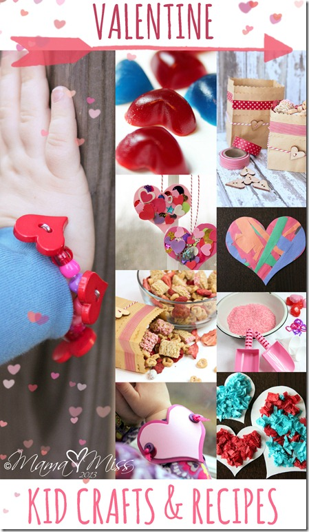 Valentine Roundup Kids Crafts & Recipes https://www.mamamiss.com ©2013