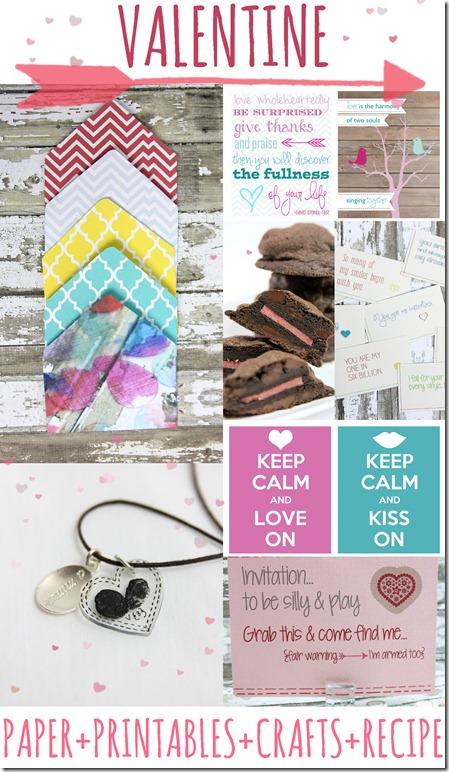 Valentine Roundup {Paper+Printables+Crafts+Recipe}  https://www.mamamiss.com ©2013