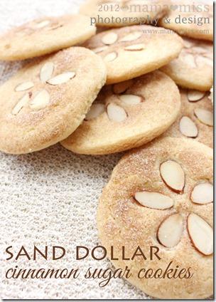 Sand Dollar Cinnamon Sugar Cookies http://www.mamamiss.com ©2013