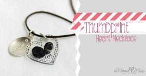 fingers & toes: Thumbprint Heart Necklace