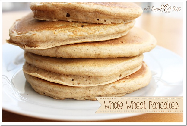 Whole Wheat Pancakes http://www.mamamiss.com ©2013