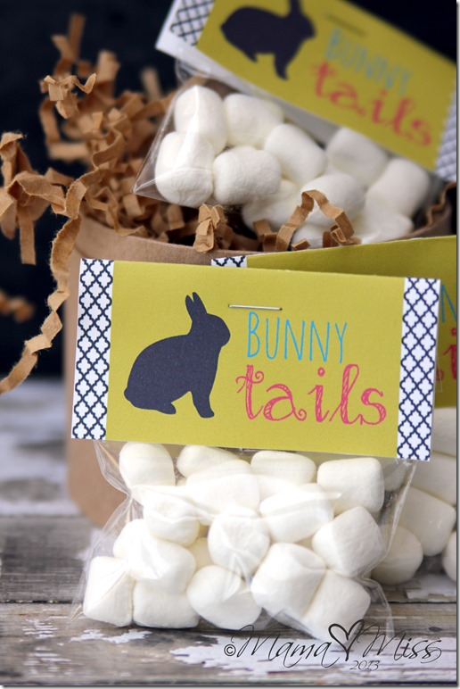 {free printable} Bunny Tails #freeprintables #bunny #easter #marshmallows https://www.mamamiss.com ©2013