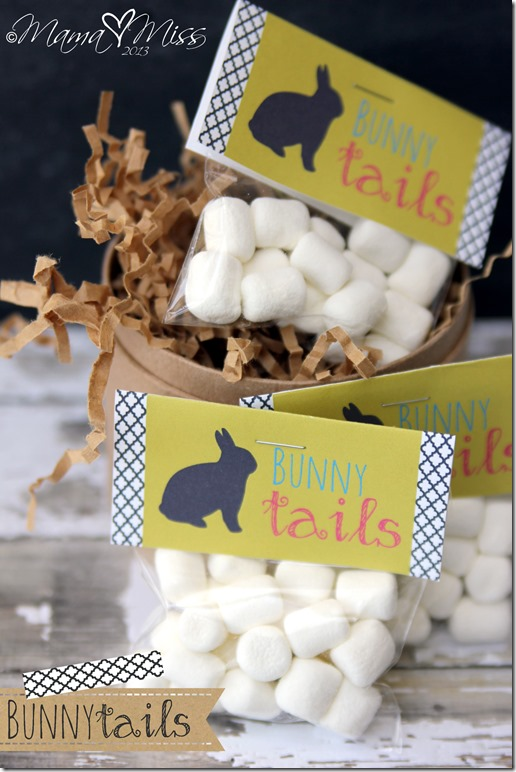 {free printable} Bunny Tails #freeprintables #bunny #easter #marshmallows http://www.mamamiss.com ©2013