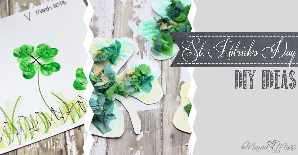 Fingerprint Clovers and Magnetic Tissue Paper Shamrocks #StPatricksDay #DIYideas | https://www.mamamiss.com ©2013