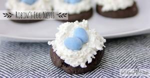 Robin's Egg Nests #birdsnestcookies #easter https://www.mamamiss.com ©2013
