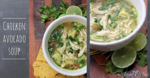 Chicken Avocado Soup #chicken #avocado #soup https://www.mamamiss.com ©2013