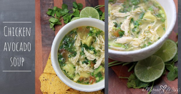 Chicken Avocado Soup #chicken #avocado #soup http://www.mamamiss.com ©2013