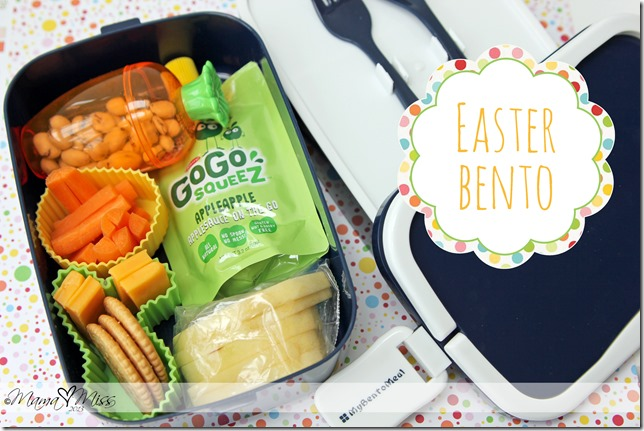 Easter Bento #easter #bento https://www.mamamiss.com ©2013