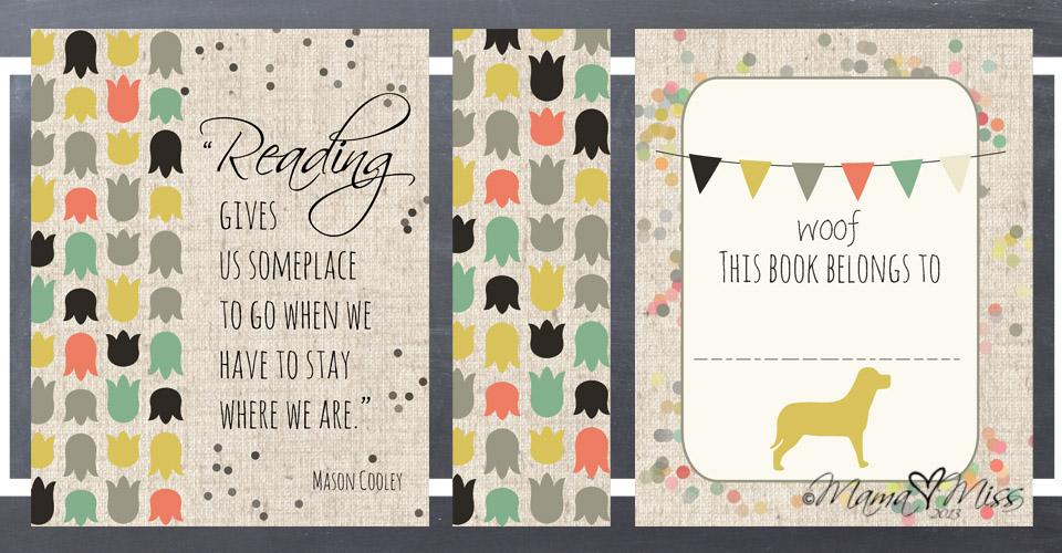Book Plates #freeprintable #littlereaders https://www.mamamiss.com ©2013