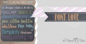 10 Spring Fonts #fontlove https://www.mamamiss.com ©2013