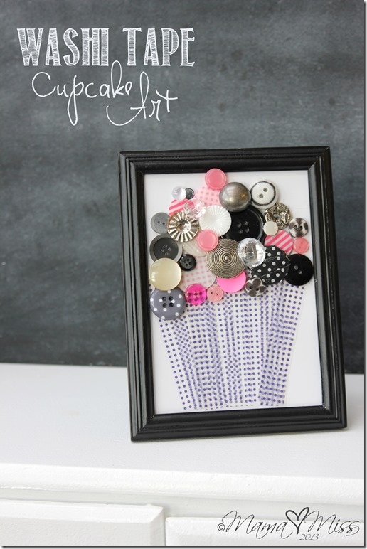 Washi Tape Cupcake Art #washitape #cupcake http://www.mamamiss.com ©2013