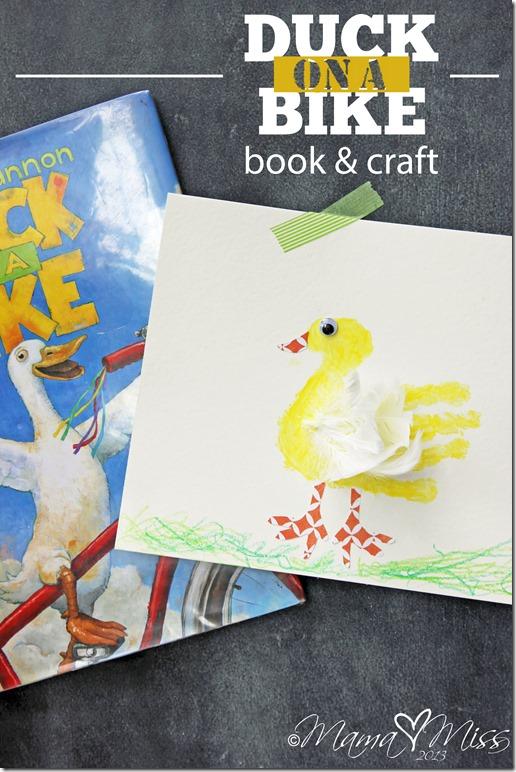 Feathered Duck Handprint #fingerpaint #handprintart #virtualbookclub http://www.mamamiss.com ©2013