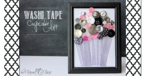 Washi Tape Cupcake Art #washitape #cupcake https://www.mamamiss.com ©2013