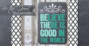 chalkboard print: Be The Good