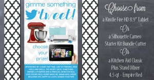 Choose Your Prize {woot-woot free loot} #giveaway #silhouette #kindle #kitchenaid https://www.mamamiss.com ©2013