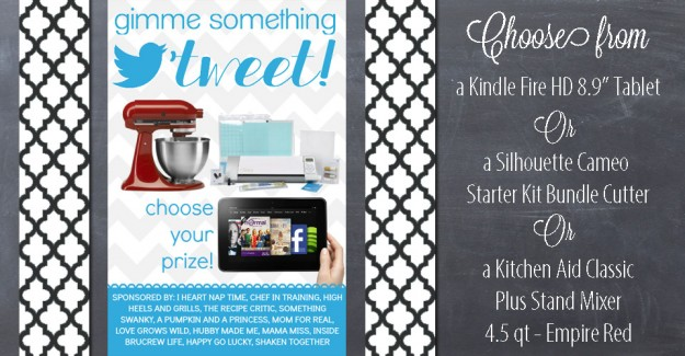 Choose Your Prize {woot-woot free loot} #giveaway #silhouette #kindle #kitchenaid http://www.mamamiss.com ©2013