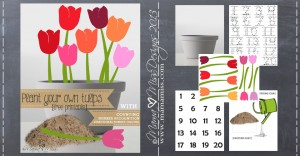 Pretend Play Inspired By Tulips #freeprintable #pretendplay #tulips https://www.mamamiss.com ©2013