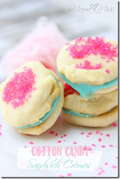 Cotton Candy Sandwich Cremes @mamamissblog #cottoncandy