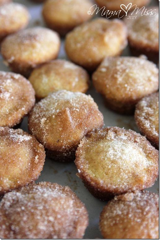 Cinnamon Sugar Mini Doughnut Hole Muffins @mamamissblog #glutenfree #eggfree