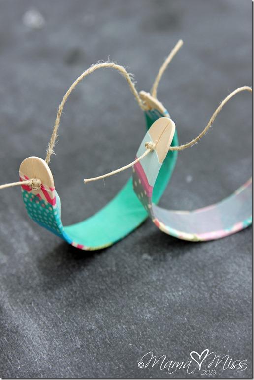 DIY: Washi Tape Wooden Bracelets #washitape #diy #bracelet
