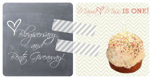 Blogiversary and Bento Giveaway!