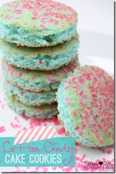 Cotton Candy Cake Cookies @mamamissblog #cottoncandy