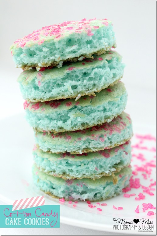 Cotton Candy Cake Cookies @mamamissblog ©2012 #cottoncandy #cookies