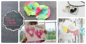 mother's day: From Dad and The Kids {last minute quick crafts} #footprints #thumbprints #kidcrafts http://www.mamamiss.com ©2013