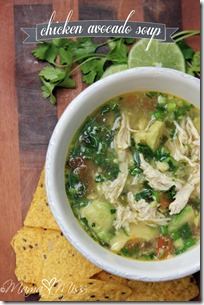 Chicken Avocado Soup https://www.mamamiss.com ©2013