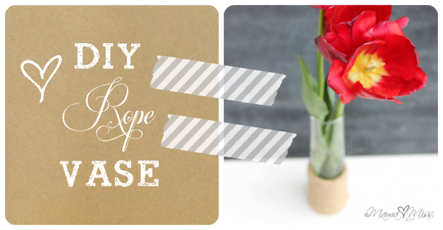 Inspired by...Nate Berkus Sisal Rope Glass Vase Tutorial @mamamissblog #rope #vase #inspiredby