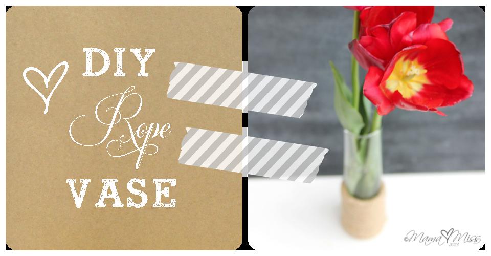 Inspired by...Nate Berkus Sisal Rope Glass Vase Tutorial @mamamissblog #rope #vase #inspiredby