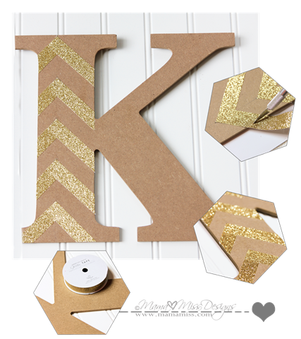 Wall Art Frame Display #diy #americancrafts #gold #glitter #nautical