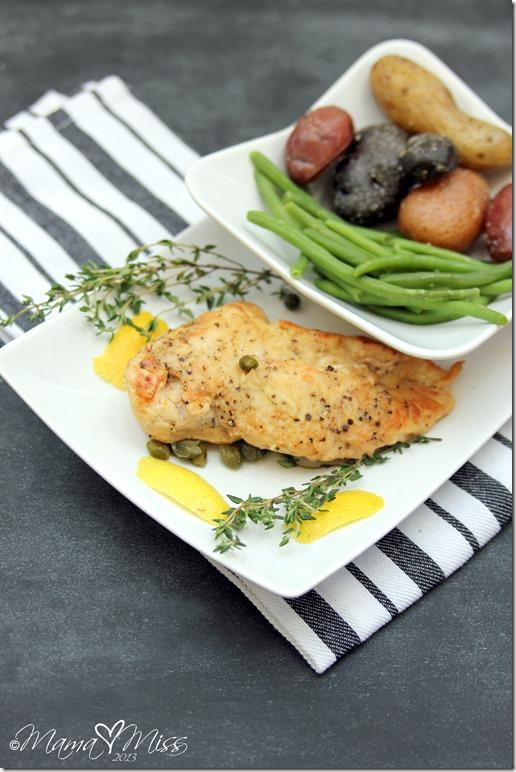 Braised Chicken With Lemon & Capers #dinner #chicken #lemon