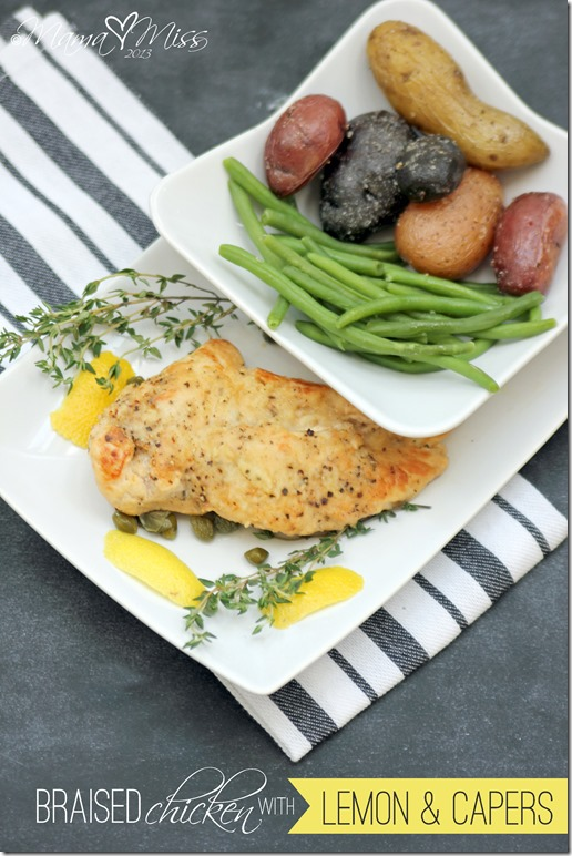 braised chicken with lemon and capers #dinner #chicken #lemon