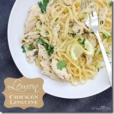 Lemon Chicken Linguine #chicken #pasta #lemon